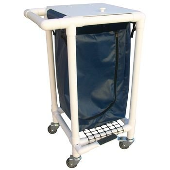Rolyan Laundry Hamper, White Frame, Navy Bag by Roylan (Image #1)