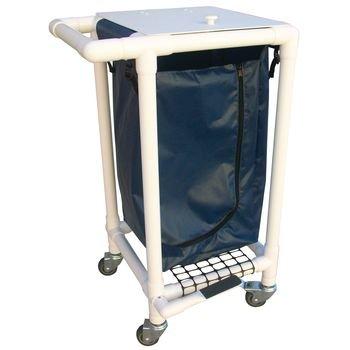 Rolyan Laundry Hamper, White Frame, Navy Bag