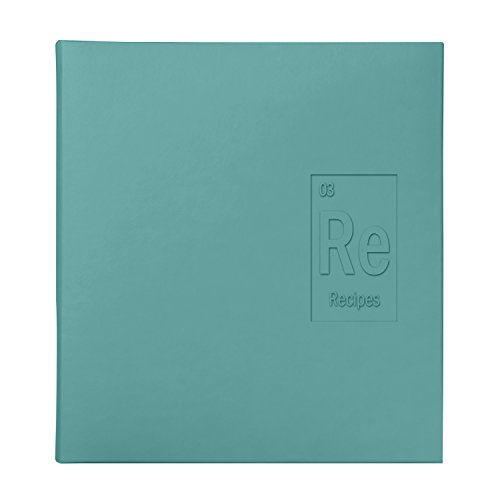 C.R. Gibson Recipe Binder 9 Tabbed Divider Pages, 24 Sheet Protectors, Includes 24 Recipe Cards - Blue Periodic Table
