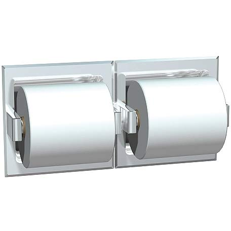ASI 74022-BSM-W Toilet Paper Holder (Double), Surface Mounted, Bright, For Wetwall Installation