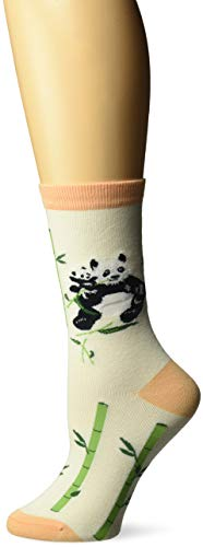 K. Bell Women's Playful Animals Novelty Casual Crew Socks, Pandas (Ivory), Shoe Size: 4-10 ()