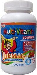 Oncle Moishy pour Enfants Multi-Vitamine Minérale Gelées avec de la Choline - 120 Gelées