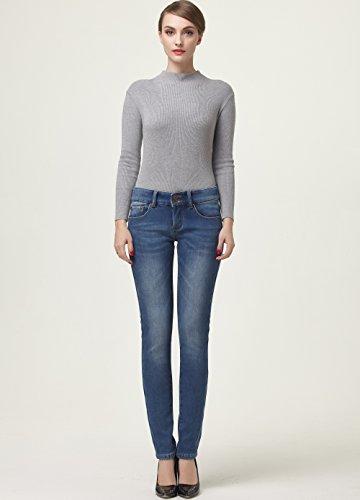 Camii Da Slim Blau 4 Mia Foderati Donna In 827 Fit Pile Jeans r64rBn