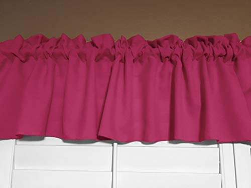 Zen Creative Designs Solid Poplin Window Valance 58 Inch Wide Fuchsia, 32 Tall