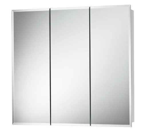 View Medicine Horizon Cabinet Tri - Jensen 255248 Horizon Frameless Medicine Cabinet, Tri-View Surface Mount, 48-Inch by 28-Inch