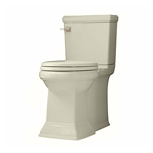 American Standard 2817.128 Town Square Elongated Luxury Two-Piece Toilet with Concealed Trapway, EverClean Surface, PowerWash Rim and Right Height Bowl - Includes Slow-Close Seat