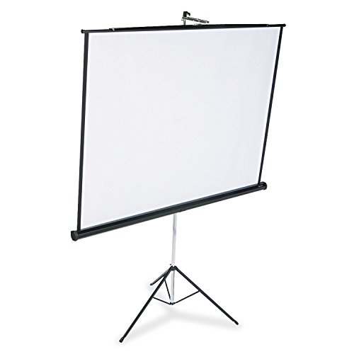 QUARTET Portable Tripod Projection Screen, 70 x 70, White Matte, Black Steel Case (Case of 2) by Quartet