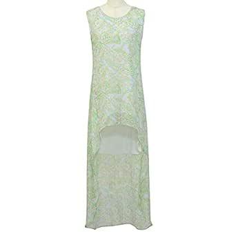 Gh Design Green Chiffon Casual Dress For Women