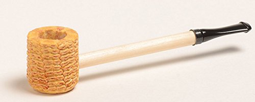 Missouri Meerschaum Short Stop Straight Amber or Black Stem Corncob Pipe ()