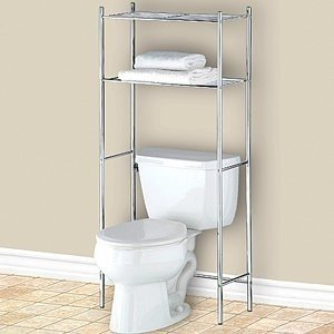 Delicieux Chrome Over Toilet Storage Unit