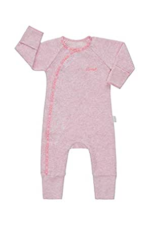 Bonds Baby Newbies Organic Poodlette Cozysuit, Blossom Pink Marle, 00 (3-6 Months)