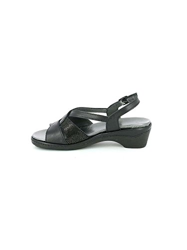 Se0377 Nero Sandalo Dora Pelle Grunland qvxZ6zv