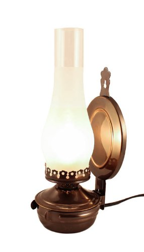 Vermont Lanterns ''Mansfield'' Brass Electric Wall Lamp 14'' (Antique Brass)