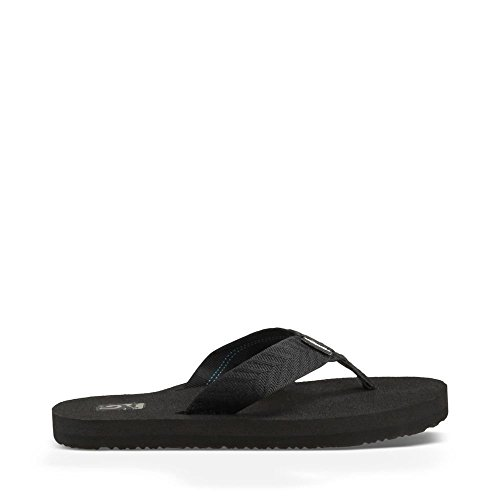 Teva Women's Mush II Flip Flop,Fronds Black,9 M US