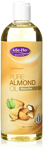 Life-flo Pure Almond Oil | Natural Skin & Hair Moisturizer w/ Omega 3, 6, 9 | Lotion, Cream & Massage Oil Base | Cold Pressed & Hexane Free | 16oz