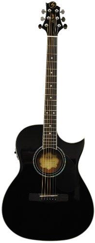 Samick Music Corp G Series 100 GA100SCE BLK Auditorium Acoustic-Electric Guitar, Black -  Samick Music Corp.