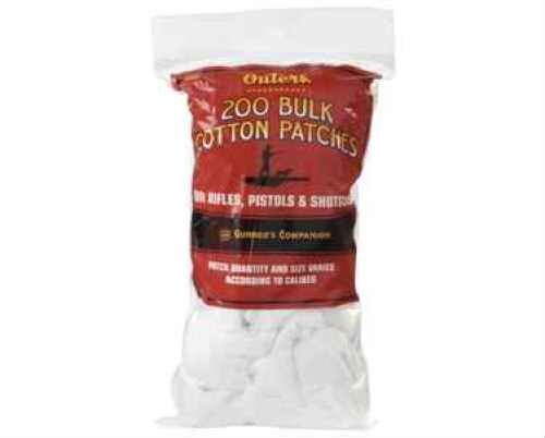 Outers Gun Cleaning Supplies - Outers .30 - .50 Caliber Bulk Bagged Cotton Patches (225 Count)