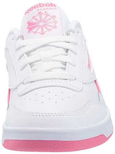 Reebok Women's Club MEMT Sneaker, White/Pink/White, 7