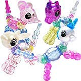 Ewong Animal Twist Bracelets for Girls, 4 PCS Magical Pets Snap Bracelets for Kids, Pull Apart Beads...