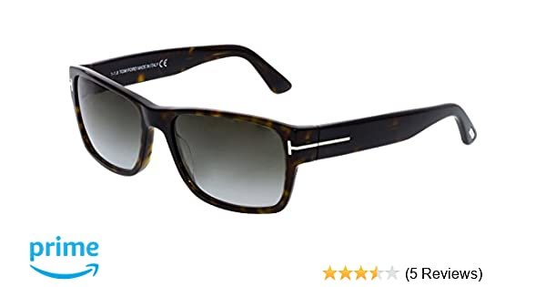 25f5eb60a7d Tom Ford Sunglasses TF 445 Mason 52B Havana 58mm at Amazon Men s Clothing  store