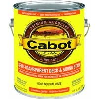 Cabot Stains 0306 Exterior Stain, Semi-Transparent Oil with Neutral Base, 1 gallon by Cabot ()