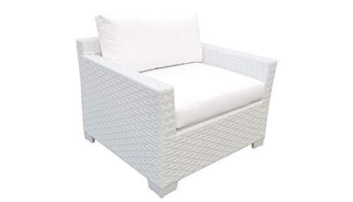 TK Classics Monaco Outdoor Wicker Patio Club Chair in Sail White