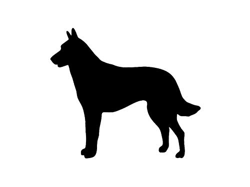 CELYCASY Vinyl Decal - Belgian Malinois Dog Silhouette Custom Vinyl Decal Sticker - Choose Your Color & Size (Malinois Silhouette)