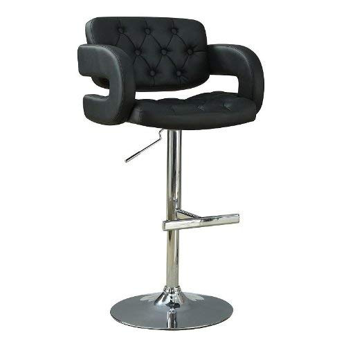 Coaster CO- Adjustable Bar Stool, Black