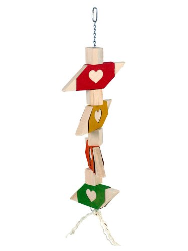 I Love to Chew – grande in legno Chew giocattolo per pappagalli