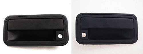 DAT AUTO PARTS Front Exterior Outside Door Handle Set of Two Replacement for 95-98 Chevy GMC 1500 2500 3500 Suburban Tahoe Yukon 95-99 Cadillac Escalade Black Left Driver Right Passenger Side Pair 99 Chevy Suburban Outside Door