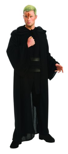 Halloween Costumes Themed Movie (Rubie's Costume Men's Priest Movie Deluxe Hooded Robe, Black, Standard)