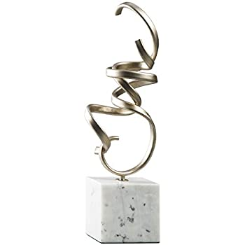 Ashley Furniture Signature Design - Pallaton Accent Sculpture - Contemporary - Champagne/White