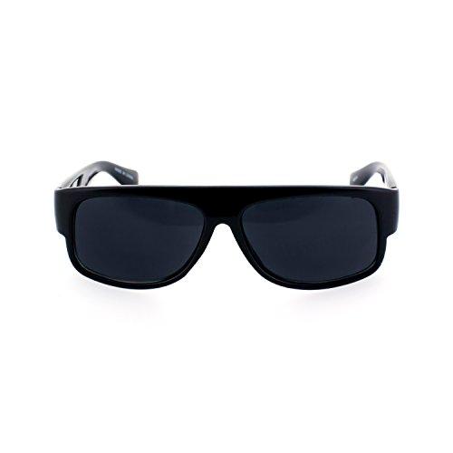 MLC EYEWEAR ® Original OG Gangster Style Shades Sunglasses w/ Super Dark Lens - Eazy Shades E Locs