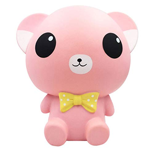 (Mikilon Slow Rising Toy, 10 Inch Jumbo Kawaii Cute Cat Squishy Cream Scented Simulation Cute Animal Squeeze Toys for Collection Gift, Decorative Props Large or Stress Relief (Pink))