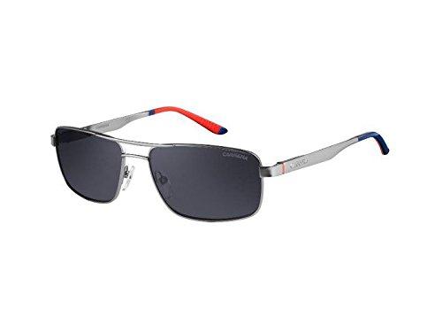 Carrera 8011S R81 Shiny Matte Ruthenium 8011S Square Aviator Sunglasses Polaris