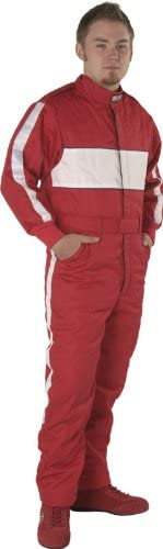 G-Force 4380XLGRD GF 505 Red X-Large Triple Layer Racing Suit