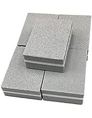 Nail File, 20Pcs/lot Mini Nail File Buffer Sponge Nail Polishing Blocks Colorful Small Portable Files Nail Polisher Manicure Tools for Home and Salon Use (Color : Gray)