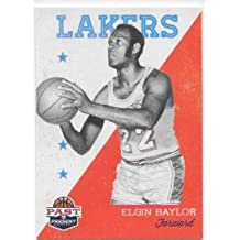 Elgin Baylor 2011-12 Panini Past and Present Los Angeles Lakers Card #76