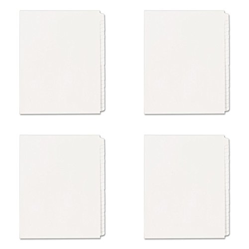 Avery Standard Collated Legal Exhibit Divider Set, Avery Style, Blank, Side Tab, 8.5 x 11 Inches, 1 Set (11959), 4 Packs