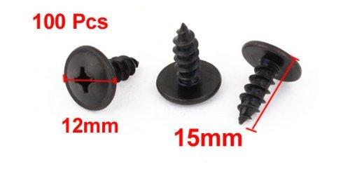 eDealMax Negro Metal 0,19 Dia de rosca Tornillos Cruz casquillo de la cabeza x 100