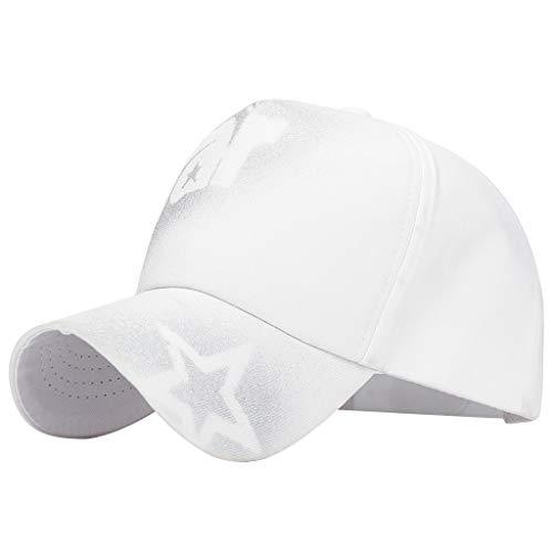 hositor Cowboy Hats for Men, Fashion Unisex Military Style Flat Cap Vintage Baseball Cap Sport Sun Hat
