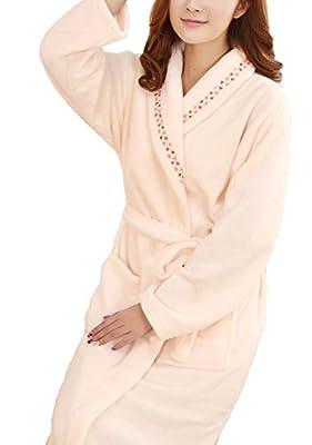 Femaroly Women¡¯s Bathrobe Nightgowns 2 Pockets, Belt - Soft, Absorbent and Comfortable Bath Robes