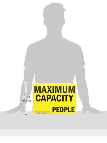 10 X 14 Plastic Sign SmartSignMaximum Capacity People