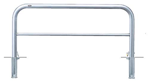 サンポール アーチ 差込式カギ付 車止めポール 直径60.5mm W1500×H650 メーカー直送 AH-7SK15-650   B07MX97M83