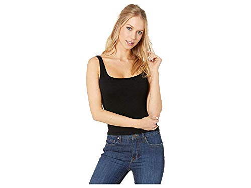 Free People Women's Square One Seamless Cami, Black, XS/S (Skinny Tank Top)