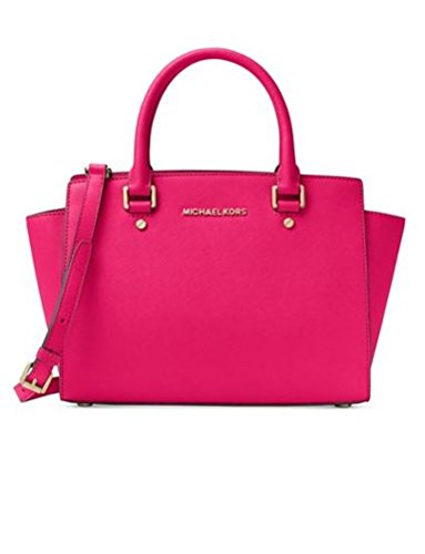 Michael Kors Selma Medium Leather Satchel - Ultra Pink by MICHAEL Michael Kors