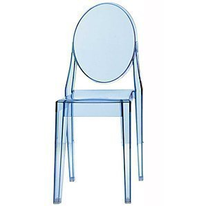Kartell Victoria Ghost Chair Ice Blue