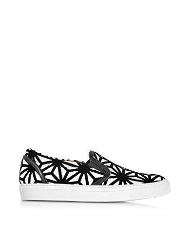 Dsquared2 Women's W16k205981m431 White/Black Leather Slip On Sneakers