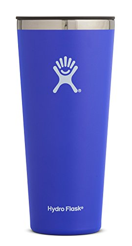 Hydro Flask 32 oz Double Wall Vacuum Insulated Stainless Steel Travel Tumbler Cup with BPA Free Press-In Lid, Blueberry (Hunter Glass Fountain)
