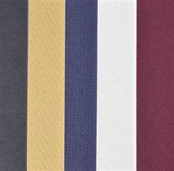 Black, White, Blue, Red, Yellow Full Sheet Mat Board Best Sellers - 25 Pack 32 x 40 Cream Core by BDMatBoard